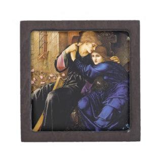 Amor entre la caja del Pre-Raphaelite de las ruina Cajas De Recuerdo De Calidad