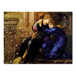 Amor entre las ruinas - Edward Burne-Jones Postales