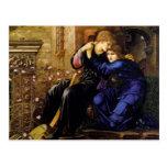 Amor entre las ruinas - Edward Burne-Jones Tarjetas Postales