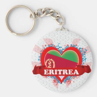 Amor Eritrea del vintage I Llavero Redondo Tipo Pin