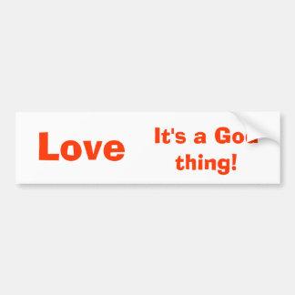 ¡Amor, es una cosa de dios! Etiqueta engomada de p Pegatina Para Auto