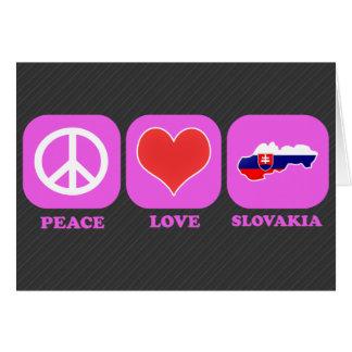 Amor Eslovaquia de la paz Tarjetas