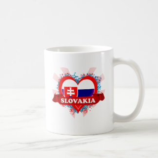 Amor Eslovaquia del vintage I Taza Clásica