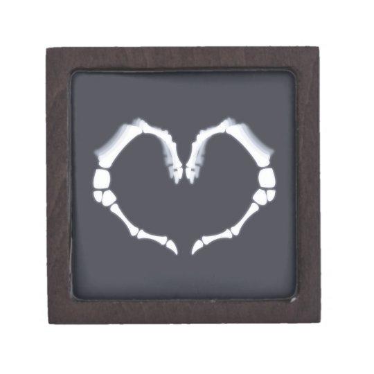 Amor esquelético cajas de joyas de calidad