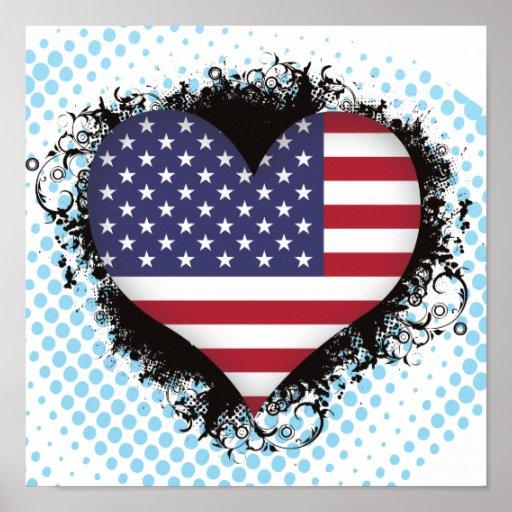 Amor Estados Unidos del vintage I Impresiones
