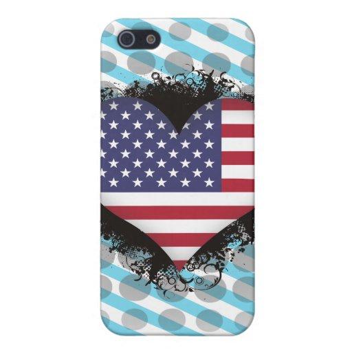 Amor Estados Unidos del vintage I iPhone 5 Fundas