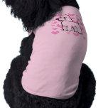 Amor estándar/de la miniatura/de juguete del playera sin mangas para perro