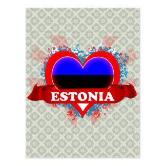 Amor Estonia del vintage I Postal