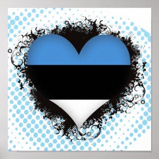 Amor Estonia del vintage I Póster