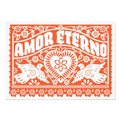 Amor Eterno Papel Picado Banner Invitation