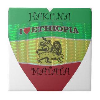 Amor Etiopía Colors.png de Hakuna Matata I Azulejo Cuadrado Pequeño