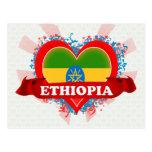 Amor Etiopía del vintage I Tarjeta Postal