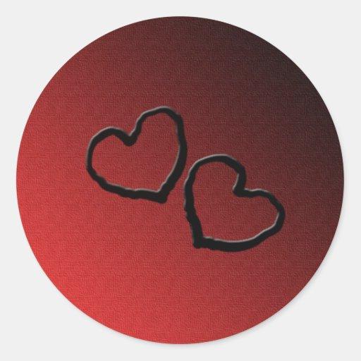 amor etiquetas redondas