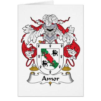 Amor Family Crest Card