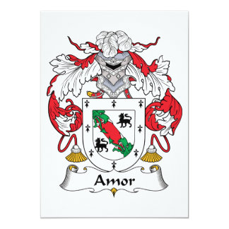 Amor Family Crest Personalized Announcement