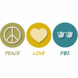 Amor FBI de la paz Adorno Fotoescultura