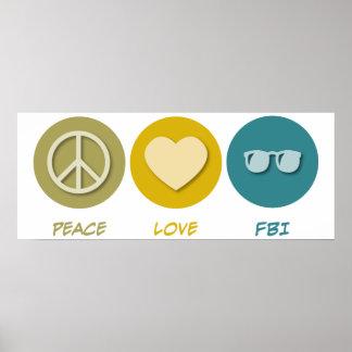 Amor FBI de la paz Poster