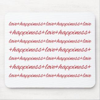 Amor + Felicidad Mousepads