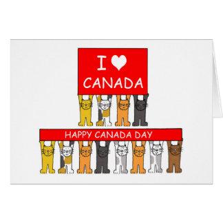 Amor feliz Canadá del día I de Canadá Tarjeta De Felicitación