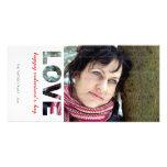 Amor feliz de Photocard el   del día de San Valent Plantilla Para Tarjeta De Foto