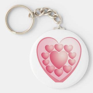 AMOR feliz del día de San Valentín Llaveros Personalizados