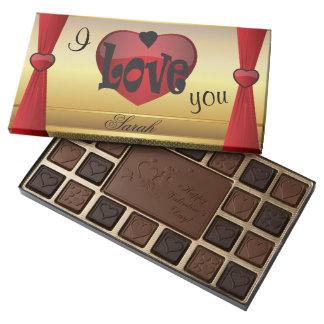Amor feliz del el día de San Valentín Caja De Bombones Variados Con 45 Piezas