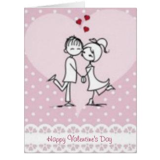 Amor feliz del el día de San Valentín Tarjeta De Felicitación Grande