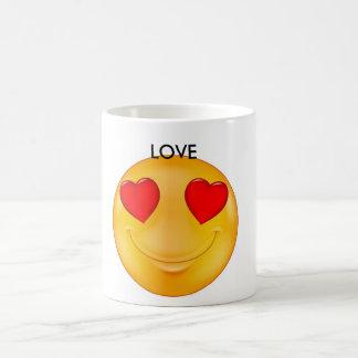 Amor feliz taza de café