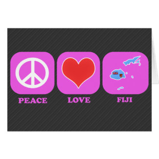 Amor Fiji de la paz Felicitacion