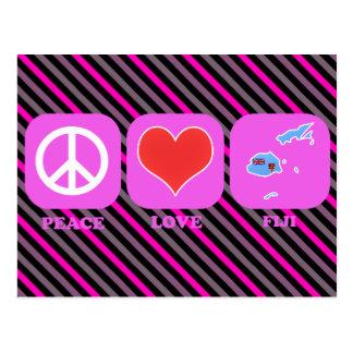 Amor Fiji de la paz Tarjetas Postales
