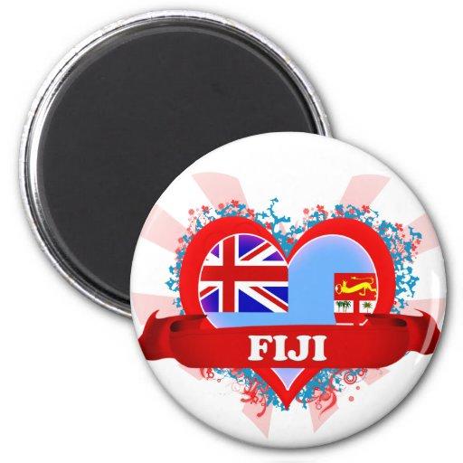 Amor Fiji del vintage I Iman Para Frigorífico