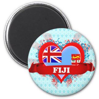 Amor Fiji del vintage I Imán Redondo 5 Cm