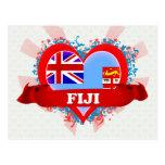 Amor Fiji del vintage I Postal
