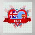 Amor Fiji del vintage I Poster