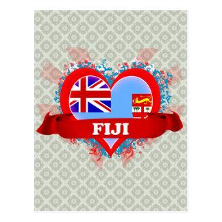 Amor Fiji del vintage I Postales
