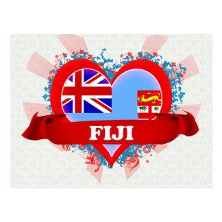 Amor Fiji del vintage I Tarjeta Postal