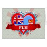 Amor Fiji del vintage I Tarjetas