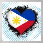 Amor Filipinas del vintage I Poster