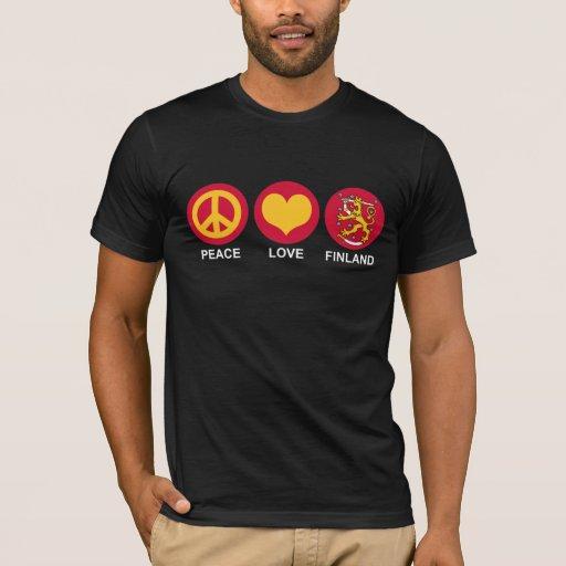 Amor Finlandia de la paz Playera