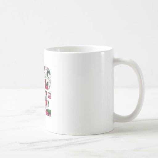 amor - flor taza básica blanca