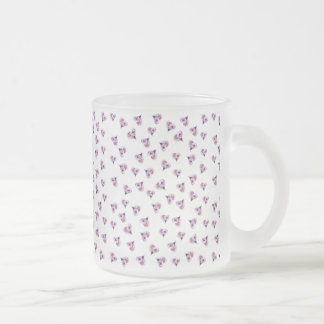 Amor floral taza de cristal