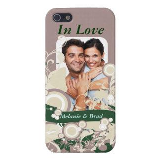 Amor floreciente iPhone 5 fundas