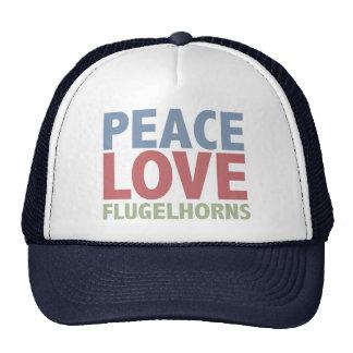 Amor Flugelhorns de la paz Gorro