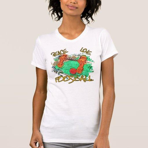 Amor Foosball de la paz Camiseta