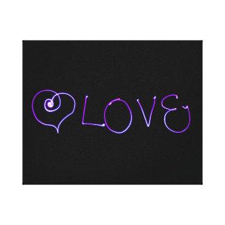 Amor - foto ligera de la pintura lona envuelta para galerías