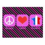 Amor Francia de la paz Tarjeta Postal