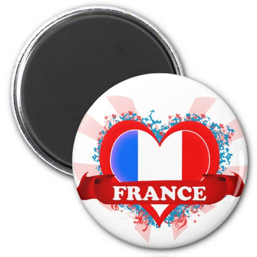 Amor Francia del vintage I Imán Para Frigorífico