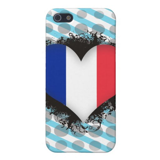 Amor Francia del vintage I iPhone 5 Funda