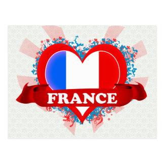 Amor Francia del vintage I Tarjeta Postal