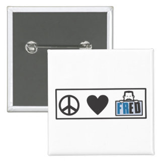 Amor Fred de la paz Pin Cuadrada 5 Cm